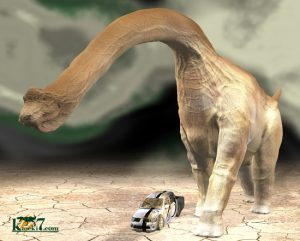 竜脚類恐竜 乗用車との比較