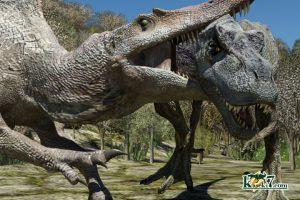 人気恐竜ティラノサウルスとスピノサウルス