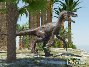 白亜紀の小型肉食恐竜