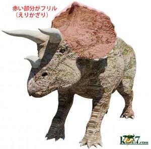トリケラトプスのフリル(えり)部分